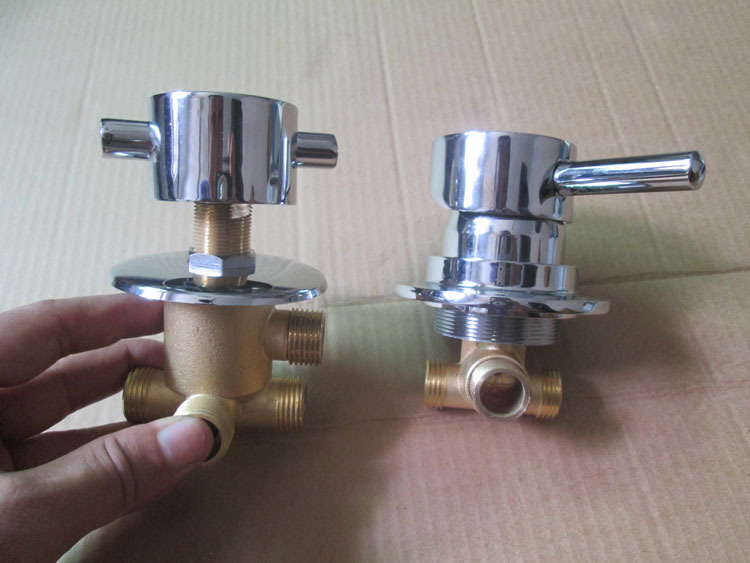 2PCS 1 SET Brass Shower Room Mixer Faucet Separate 3 4 5 Way Water Outlet Ba