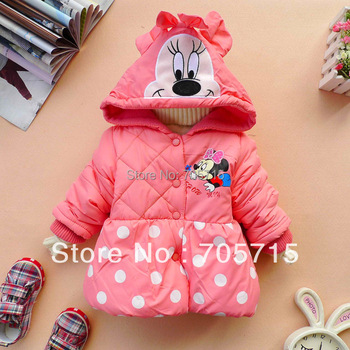 Retail Free shipping Spring Autumn Winter Hot Sale baby clothing,children clothing,girl's minnie mouse children coat