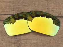 Polycarbonate-24K Golden Mirror Replacement Lenses For Scalpel Sunglasses Frame 100% UVA & UVB Protection