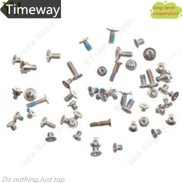 Timeway   For iPhone 5S Full Screws Set With 2 Botton Screw Replacement Repair Parts Black   & Drop shipping