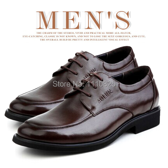 Фотография Free shipping New 2014 Spring/Autumn Full Grain Leather flats shoes for men, breathable business shoes (Black, Brown)size:35-48