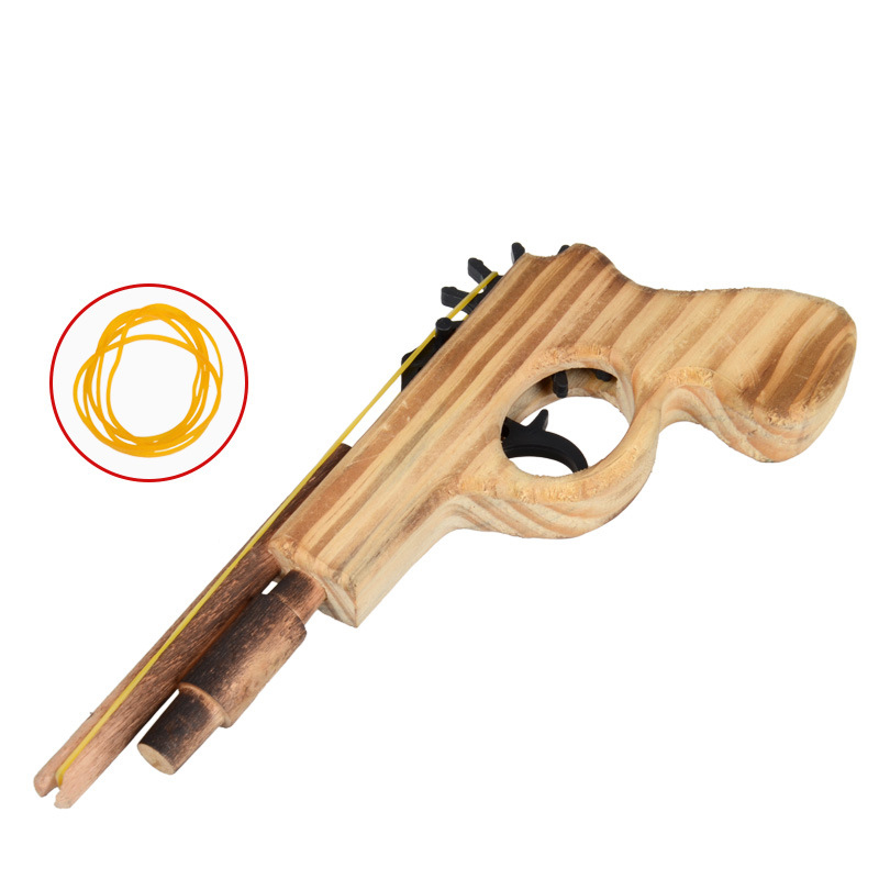 New arrival kids toys wooden toy gun classic playing rubber band toy pistol guns interesting kids guns toys(China (Mainland))