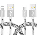 Quality Metal nylon Lighting Cable Fast Sync and Chargeur Micro usb cable For iPhone 5 5s