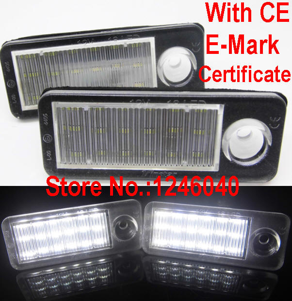 Canbus Error free 18SMD LED License plate light number plate lamp for Audi A6 C5 4B Avant/Wagon 1998-2005 RS6 Plus 2003-2005(China (Mainland))