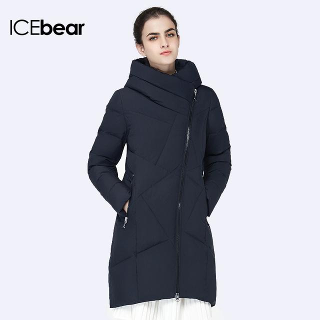 ICEbear 2016 Био Вниз Женщин Зимние Куртки И Пальто Четыре Цвета Jacekt Средней Длины Высокого Качества Пальто Парки 16G631D