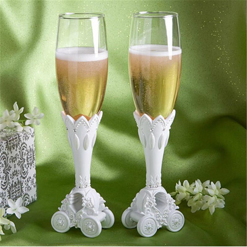 2pcs Cinderella 39 S Pumpkin Carriage Glass Goblet Wedding