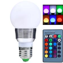 1Pcs E27 LED RGB Bulb lamp AC110V 220V 3W 5W Spot light Dimmable Magic Holiday RGB Lighting IR Remote Control 16 Colors(China (Mainland))