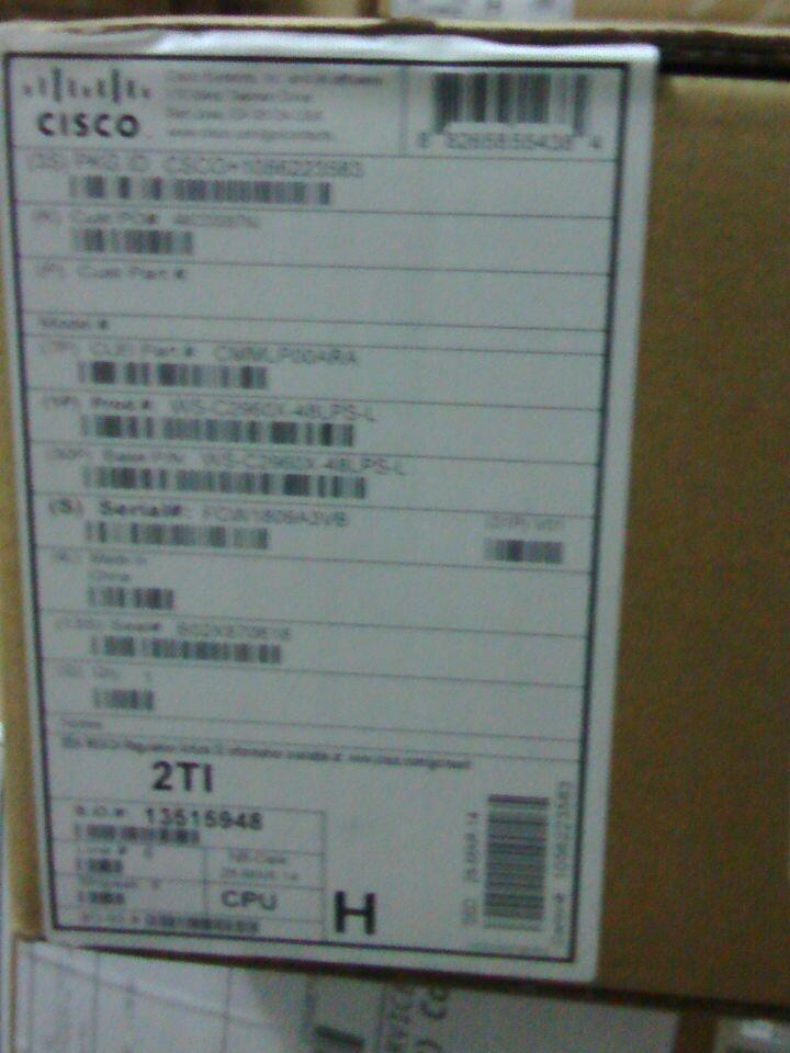 New 100% Cisco WS-C2960X-48LPS-L 48 GigE PoE 370W, 4 x 1G SFP, LAN Base Switch(China (Mainland))
