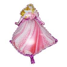 Бесплатная доставка 1 шт. детская принцесса алюминиевые воздушные шары день рождения ну вечеринку воздушный шар игрушки оптовая продажа