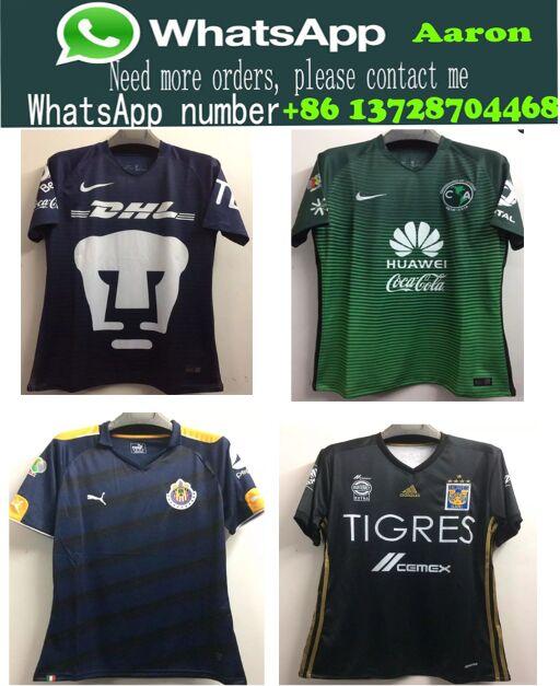 New Mexcio camisetas Club de Futbol AmErica 2017/2018 Chivas Tigres UANL Monterrey Club Universidad Nacional soccer jerseys(China (Mainland))