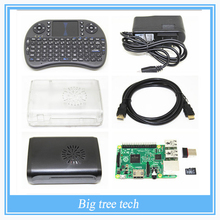 Raspberry Pi 3 kit Raspberry Pi 3 Model B +Two Raspberry Pi Cases +Mini Wireless i8 Keyboard +Wifi+8GB Card(China (Mainland))