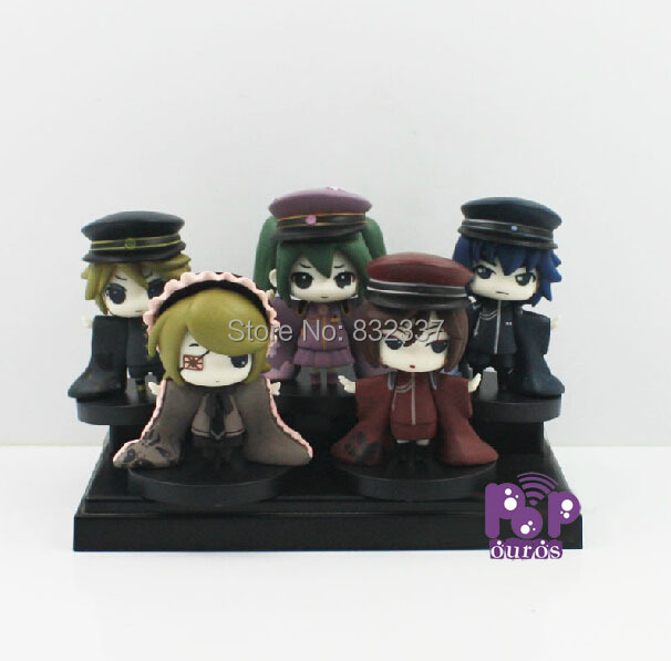 5x Pop Japanese anime figure Hatsune MIKU Action Figures PVC toys For Gift(China (Mainland))