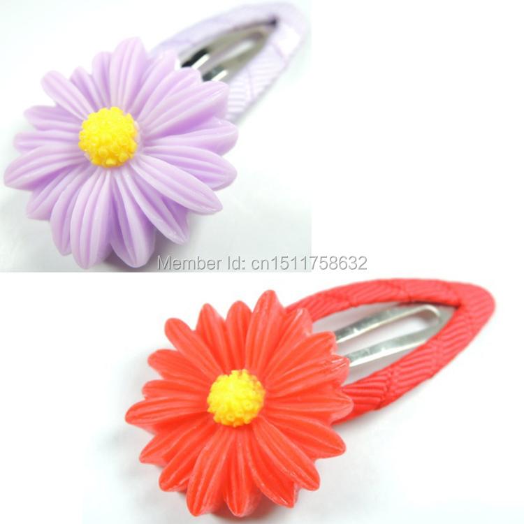 2pcs Baby Girls Hair Clip Band Hairpins Toddler Kids Flower Pumpkin Fashion Gift 6 Colors(China (Mainland))