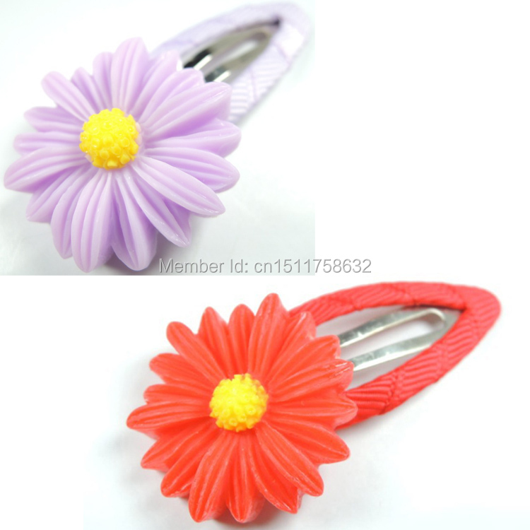 2pcs Baby Girls Hair Clip Band Hairpins Toddler Kids Flower Pumpkin Fashion Gift 6 Colors(China (Mainland))
