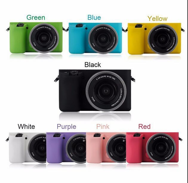 Free Shipping Black Soft Silicone Rubber Camera Protective Body Cover Case Skin for Sony A6000 ILCE