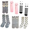 6 Designs Baby Socks Children Boy Girl Bebe Training Sock Cotton Infant Knee High Tube Socks