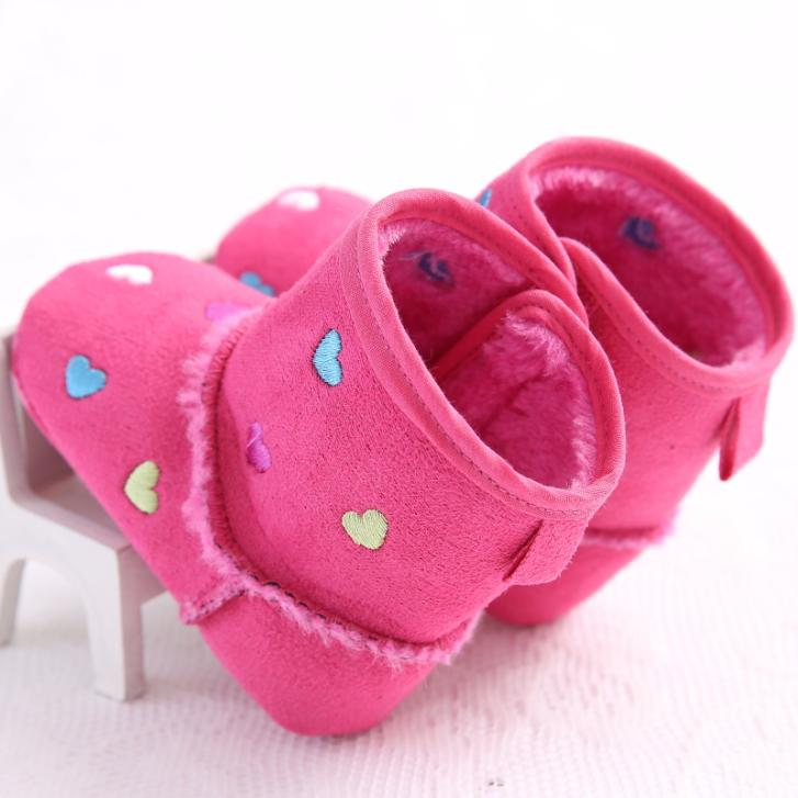 S1325/S1307 New Baby Girl/Boy Soft Sole Walking Shoes Winter Warm Newborn 0-18 Months Heart Shape Baby Boots(China (Mainland))