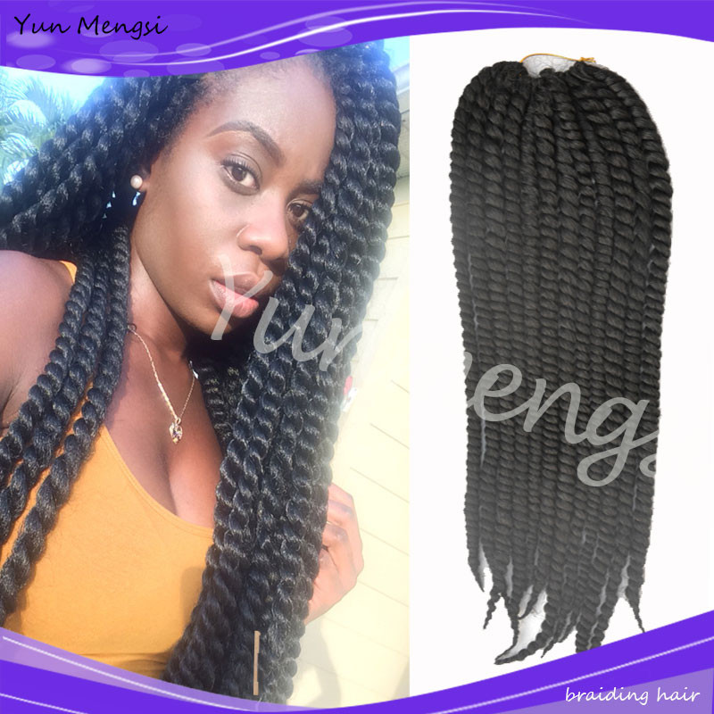 Crochet Hair In Bulk : twist crochet hair extensions afro kinky bulk hair synthetic crochet ...