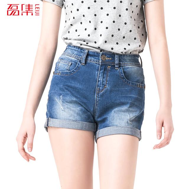 Leiji мода синий S 6XL 2016 новый летний стиль середине талии эластичный Большой ...