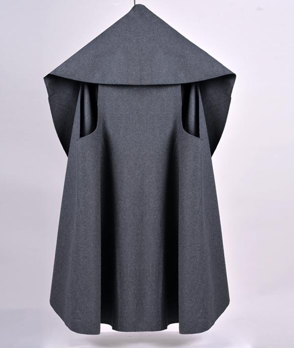 Women's Poncho Trench Coat Wool Outwear Ladies Noble Elegant Cape Shawl Poncho Wrap Short Winderbreaker(China (Mainland))