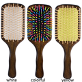 Wood hair brush Combs Paddle Brush Wooden Hair Care Spa Massage Antistatic Comb J18
