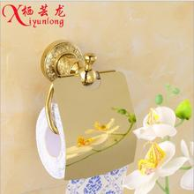 European factory wholesale carved golden toilet paper holder kitchen roll holder Wall Hollow Bathroom Accessories free shipping
