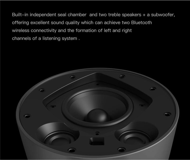 BASEUS Original Home Wireless Bluetooth Speaker DC15V 2A NFC Remote Control Smartphones Car Handsfree Receive Call Music Suction