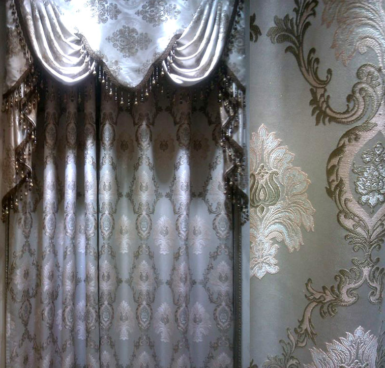 Curtains Home Application Embroidery Lace Curtain Luxury Blinds Finished Curtain Tulle Wholesale