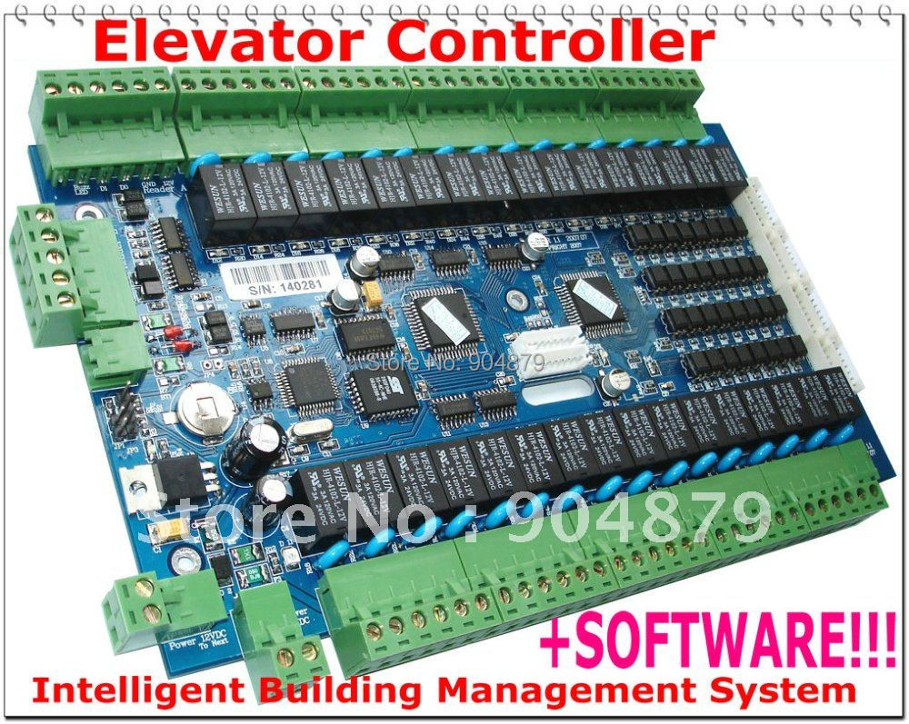 Lift Access Controller Floors Control Intelligent system Elevator Controller SYSTEM, RS485, 32 floors Access Controller system(China (Mainland))