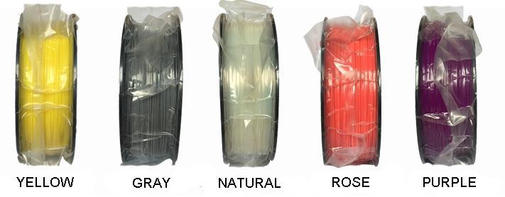 Free shipping 31 Colors 3D Printer Filament PLA 1.75mm material 1 KG Plastic Rubber Consumables Material