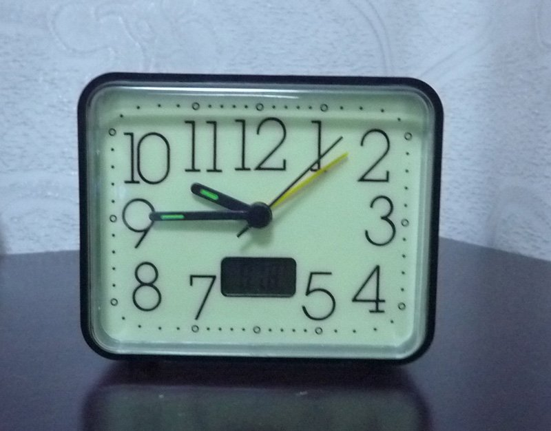 Glow In The Dark Travel Alarm Clock With Digital