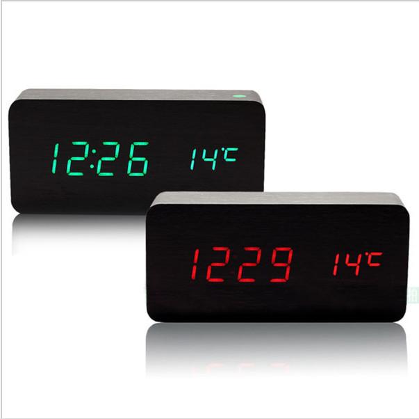 Sounds control novel alarm clocks,4 color LED Display,Kids stylish alarm clock Bedside Horloge despertador Luminous table clock(China (Mainland))