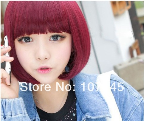 Dropshipping Straight Synthetic Hair Red Short Wig Afro Black Women Cosplay Anime Makeup Lace Front Full Wigs Caps - H&C Fashion Store store