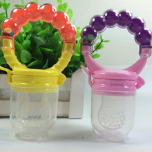 Children Kids Soother Nipples Soft Feeding Tool Baby Infant Food Nipple Feeder Silicone Pacifier Fruits(China (Mainland))