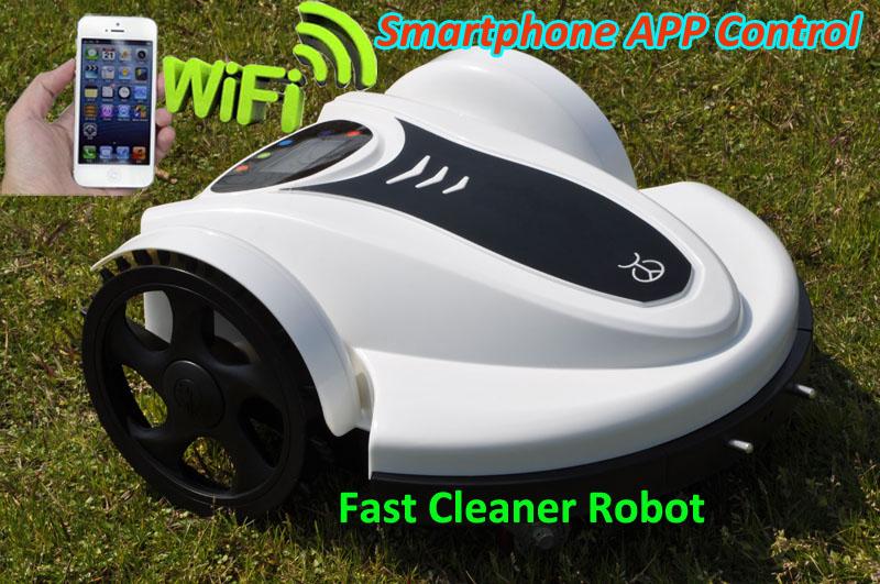 2016 New Arrival SmartPhone App Wifi Control Robot Auto Lawn Mower With Lead-acid battery,Language, Compass Function,Rain Sensor(China (Mainland))