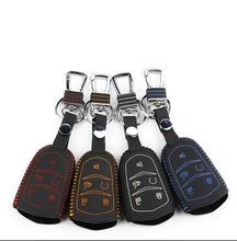 Colorful copertina chiave dell'automobile di cuoio per 2014 2015 cadillac srx ats atsl cts xts chiave caso chiave coperture di protezione(China (Mainland))