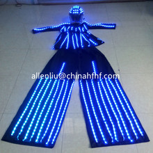 2016,Hot Sell Low Price Fullcolor LED Lady Stilts Walker Clothes/ LED Glowing Women Costumes for Halloween & Stage & Dance show