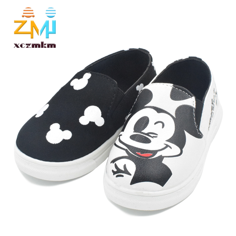 New 2016 children shoes sneakers canvas cartoon hello kitty running sport girls and boys shoes female all size 21-36(China (Mainland))