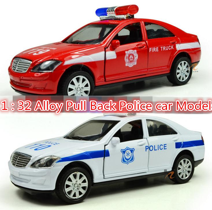 Free shipping ! 2014 super cool !1 : 32 Pull Back sound and lights alloy car toy Police car Models,Children's best birthday gift(China (Mainland))