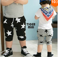 SK027 Free Shipping  2014 Wholesale New 1PC/Lot Children Baby Boy Girl Child Summer Cute Cool Star Pants  Capris Birthday Gift