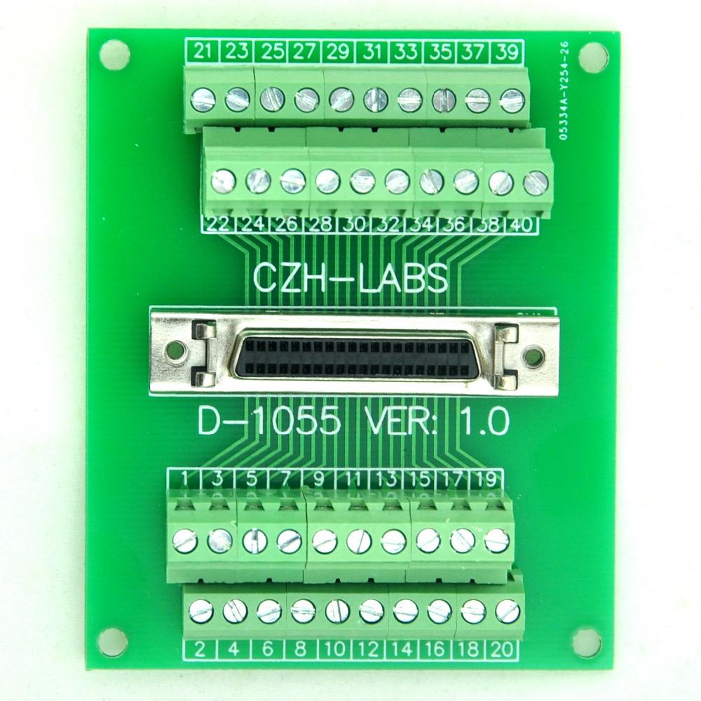 40-pin Half-Pitch/0.05 D-SUB Female Breakout Board, DSUB, SCSI, Terminal Module<br><br>Aliexpress