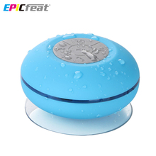 BTS-06 Bluetooth Portable Waterproof Wireless Speaker for Shower Music Player LED flash lighting Loudspeaker with Sucker(China (Mainland))