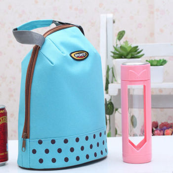 1 PC Hot Women Portable Insulated Thermal Cooler Ice Lunch Box Food Storage Cooler Containers Carry Bag Travel Picnic Hand bag