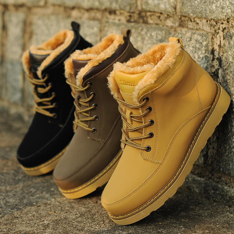 Super Warm Winter Shoes Hot-selling Cotton-padded Shoes Warm Mens Shoes Casual Shoes Plus Velvet Shoes Snow Boots Winter Boots