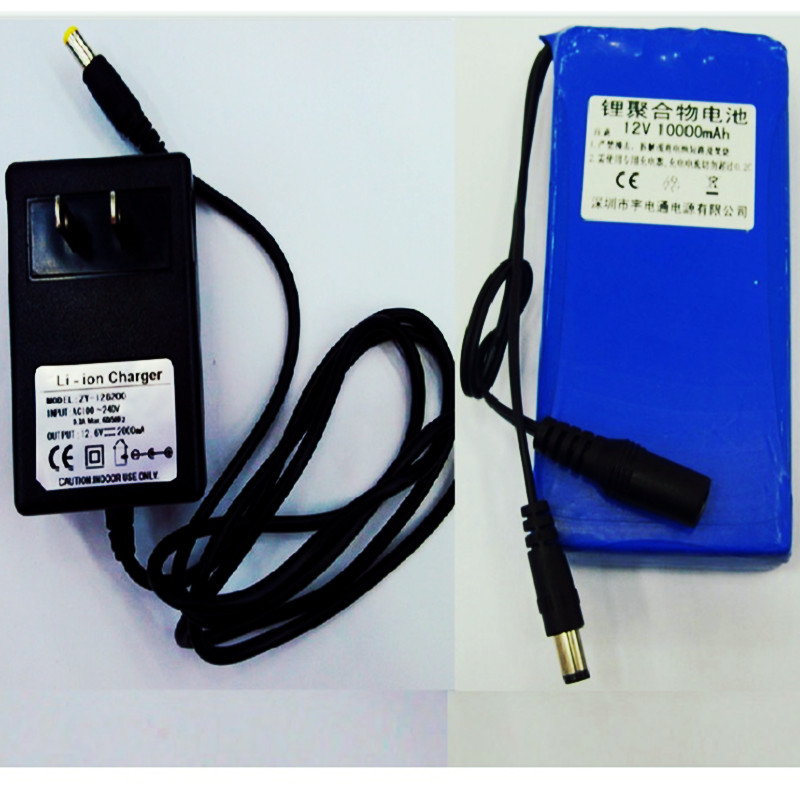 2PCS Lithium polymer battery 12V10AH for Standby power 12VLi-ion battery freeshipping(China (Mainland))
