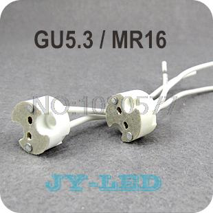 Wholesale 10pcs/lot MR16 Lamp Holder GU5.3 MR11 LED light Socket base Ceramic Wire Connector free shipping<br><br>Aliexpress