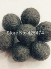 Wholesale Price 200PCS/Lot 20MM Dark Grey Wool Felt Ball Handmade DIY Curtain Decoration Ball Woven Balls for Rug Home Decor(China (Mainland))