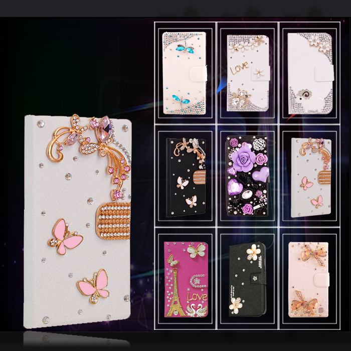 Fashion Flip cell phone wallet bling glitter 3D crystal Diamond case Samsung Galaxy ACE 3 III S7270 S7272 - GOOD LIFE SPARE PARTS store