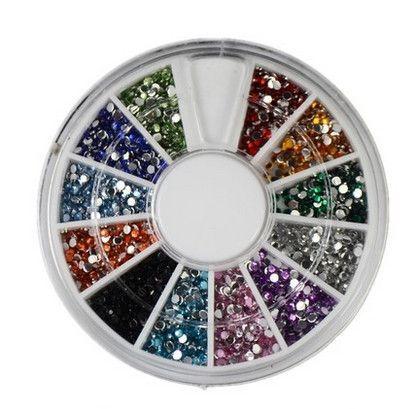 Гаджет  12 Colors Nail Art rhinestones Acrylic Nail Decoration 2mm For UV Gel Iphone and laptop DIY Free Shipping None Красота и здоровье