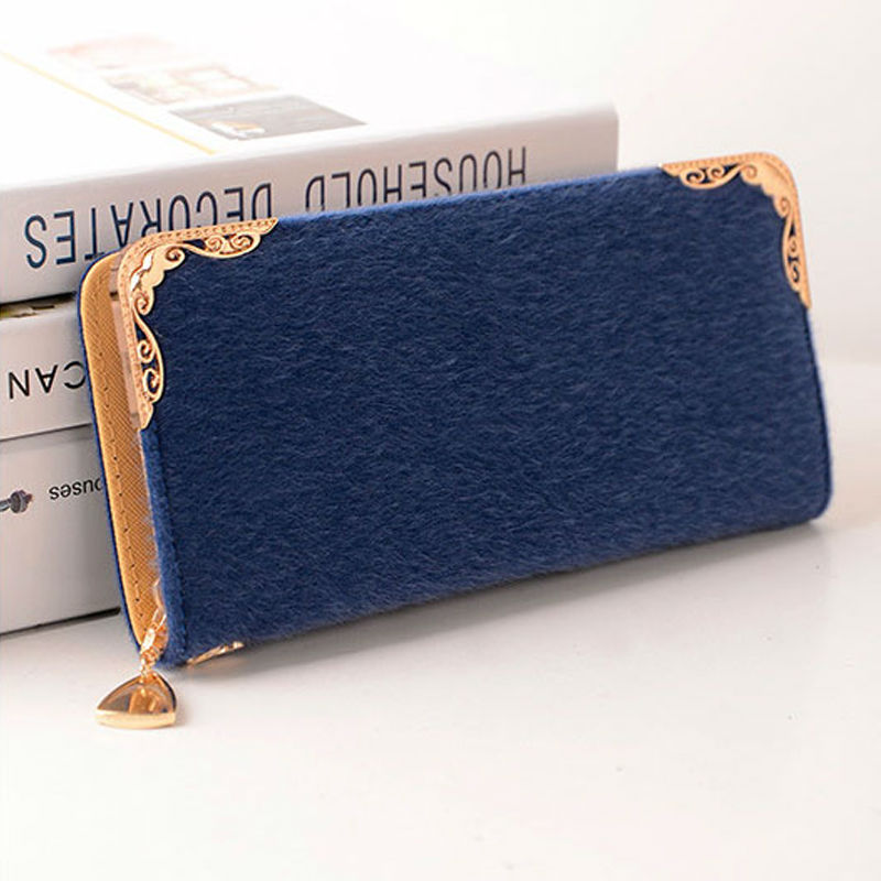 2015 Women Wallets new winter fashion trends pumping frosted multi-card position two fold wallet lady Ms. Long purse card<br><br>Aliexpress